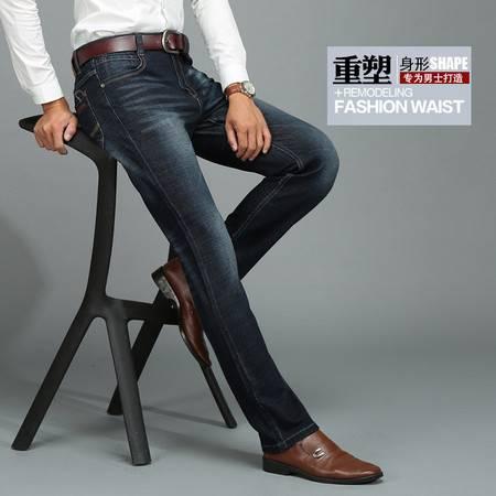 男式牛仔男裤子弹力修身直筒休闲牛仔裤时尚牛仔男装正品