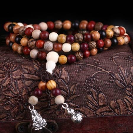 工艺多宝珠男女手链1.5毛衣链金丝楠黑檀血龙木十几种木种手串车饰品佛珠