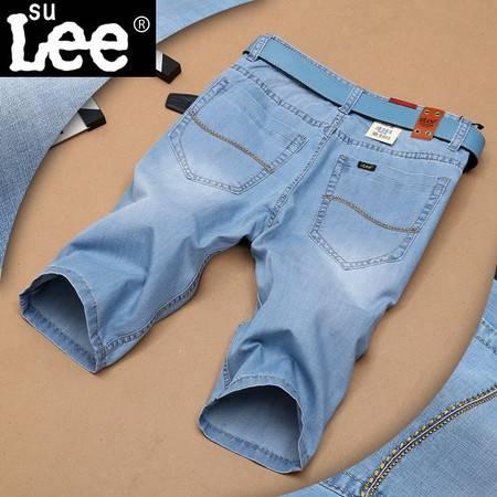 正品男式牛仔裤短裤薄款潮流气质牛仔潮裤子男裤时尚宽松