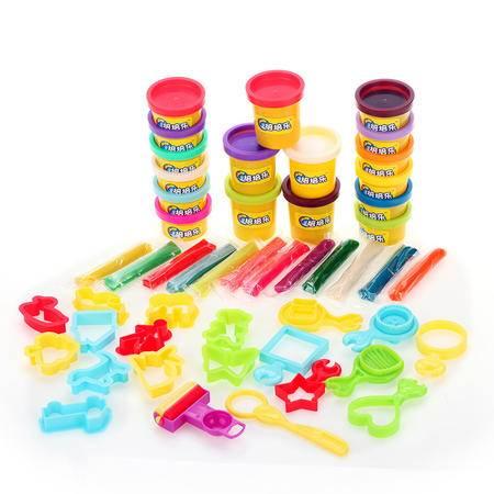 创作小天地太空泥3d超轻粘土 无毒彩泥橡皮泥 儿童DIY玩具