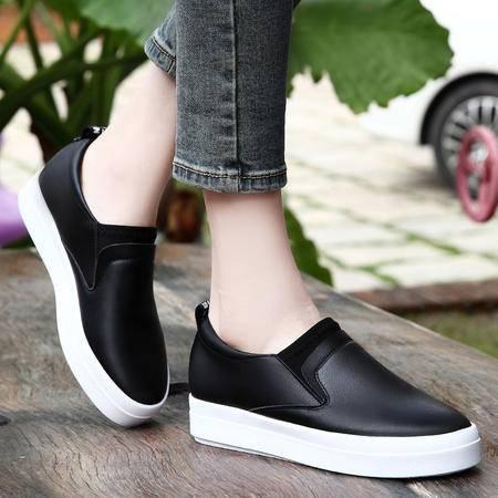 春季新款女生韩版运动休闲鞋平底松糕鞋潮鞋板鞋女运动鞋