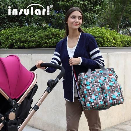 最新欧版时尚多功能妈咪包大容量单肩斜挎妈妈包母婴外出包