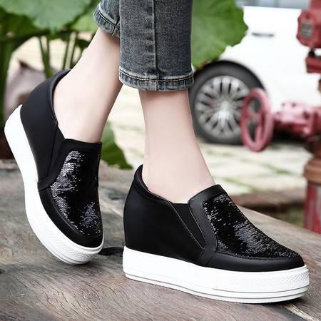 春季新款女鞋子春款休闲鞋韩版女士单鞋平底内增高春鞋百搭潮