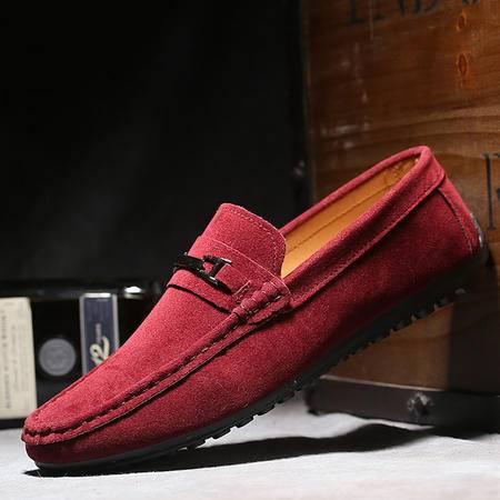 春季新款男士豆豆鞋 英伦潮男鞋低帮透气男单鞋套脚鞋子
