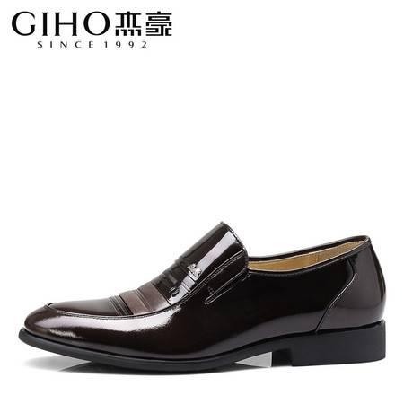 春夏商务正装皮鞋男士套脚真皮单鞋舒适套脚流行男鞋子