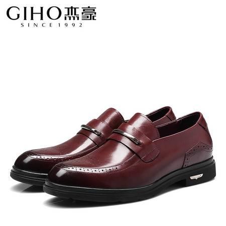 春秋季商务新款男士系带商务正装耐磨低帮鞋
