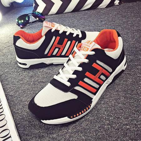 新款网面男鞋春季潮鞋休闲鞋子运动旅游气垫跑步鞋韩版板鞋
