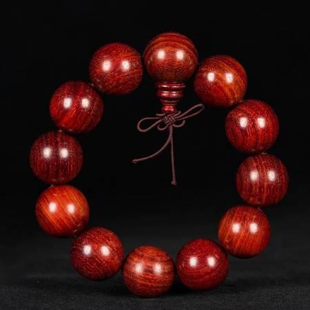 工艺赞比亚血檀20mm 血檀精品佛珠手串手持念珠