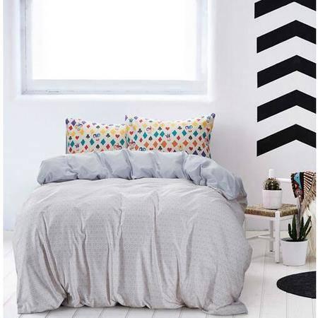 床上用品被枕套新款被单纯棉床上用品小清新印花单双人床套件全棉斜纹四件套