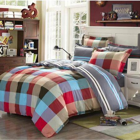 床上用品被枕套纯棉四件套 田园四季通用全棉床上用品