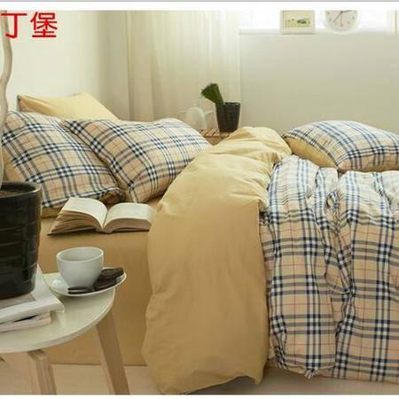 床上用品被枕套简约风全棉四件套 纯棉床单款床上用品