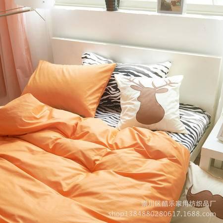 床上用品被枕套北欧宜家斑马纹四件套 纯棉床笠床单款