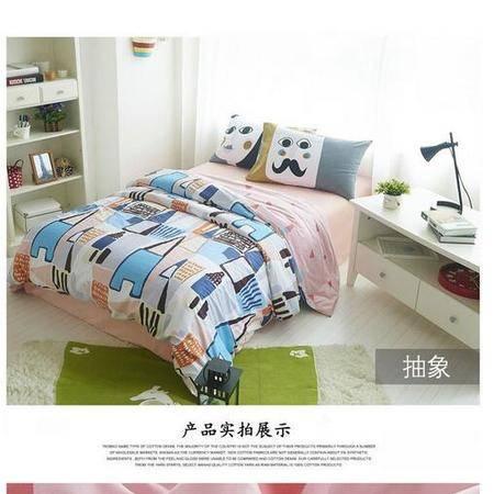 床上用品被枕套喷气简约宜家个性纯全棉床单床笠1.5/1.8四件套