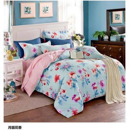 床上用品被枕套个性时尚AB版全棉四件套 新款印花加厚保暖舒适纯棉床上四件套