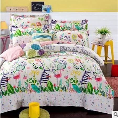 床上用品被枕套纯棉四件套12868全棉套件单双人被套床单床上用品