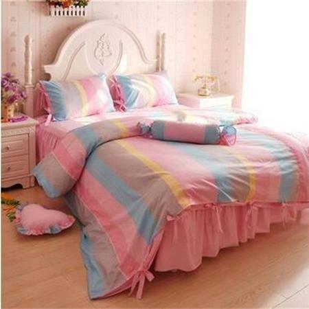 床上用品被枕套韩版纯棉斜纹三四件套 全棉套件