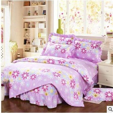 床上用品被枕套 12868纯棉花边枕套床裙款四件套大号