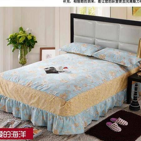 床上用品被枕套韩版全棉单床裙纯棉床罩床裙