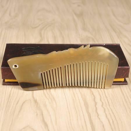工艺正品牛角梳礼品梳 纯天然牛角梳头 防静电防脱发排梳