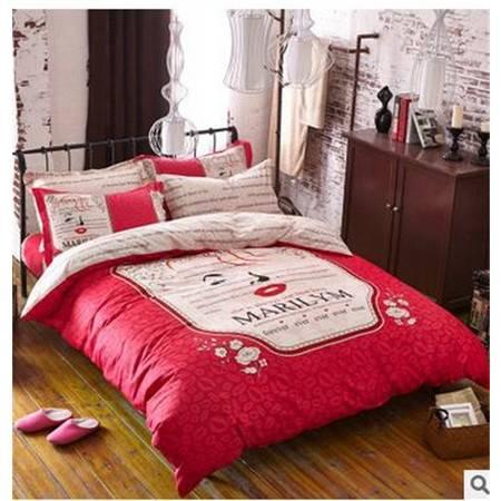 床上用品被枕套全棉平网印花四件套纯棉四件套春夏床上用品套件