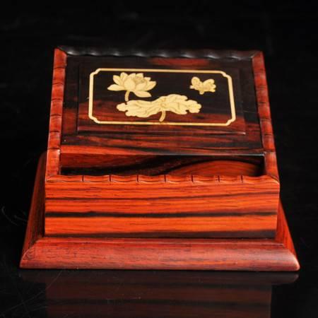 工艺红酸枝烟灰缸烟跳套装办公室用品红木雕工艺品家居高档礼品