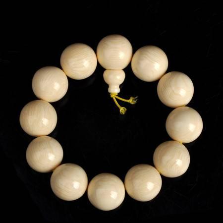 工艺海象牙树脂手串河马牙赛璐璐宝珠2.0佛珠时尚仿真象牙念珠