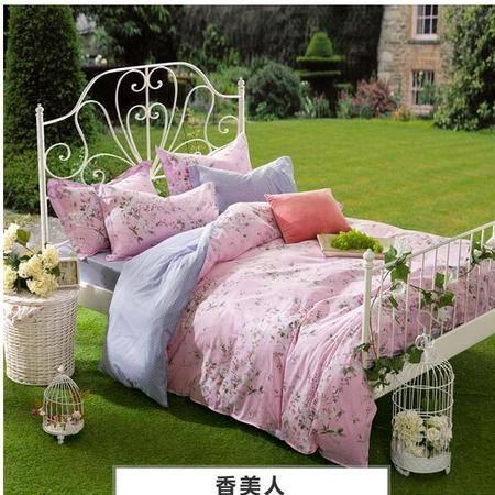 床上用品被枕套日韩式公主简约纯棉四件套全棉床单床上用品套件