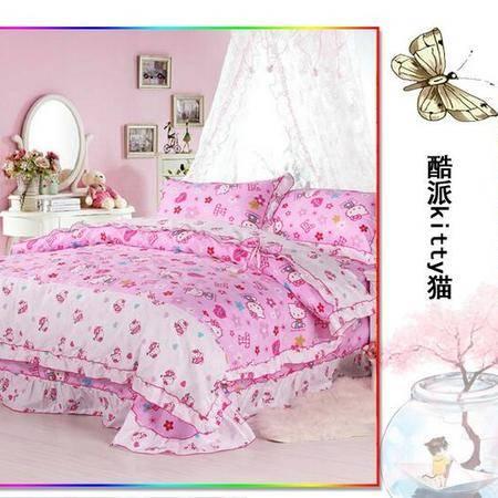 床上用品被枕套床上用品 纯棉韩版四件套 全棉活性 公主床品四件套品四件套