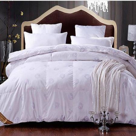 床上用品被枕套纯棉立体白鸭绒羽绒被单双人被秋冬加厚保暖冬被芯
