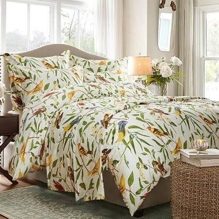 床上用品被枕套床上用品 高档外贸出口50支海岛棉纯棉四六件套 婚庆床上用品