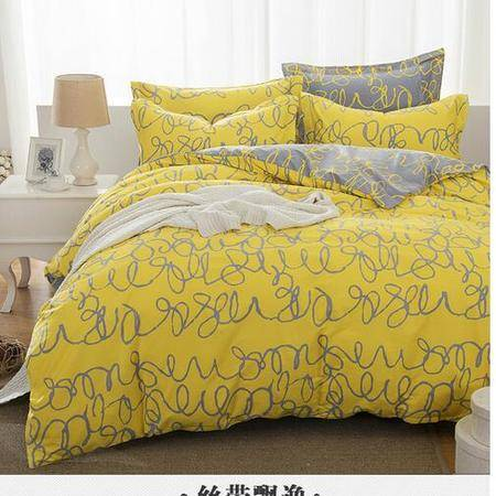 床上用品被枕套个性时尚简约风全棉四件套纯棉床单款