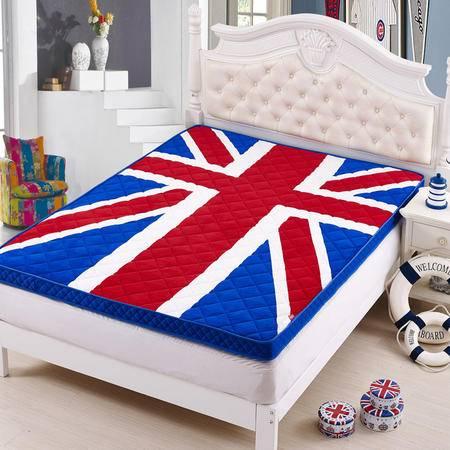 床上用品被枕套米字立体竹炭床垫 单双人加厚榻榻米可折叠保护垫