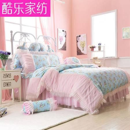 床上用品被枕套高端韩版纯棉韩式全棉蕾丝公主风床上用品四件套