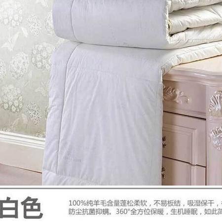 床上用品被枕套春秋冬被纯羊毛被子全棉加厚羊毛被芯冬被