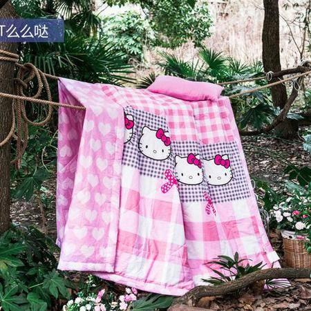 床上用品被枕套全棉简约夏被卡通时尚可爱条纹控薄被子纯棉夏凉被