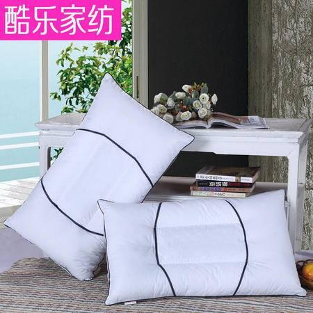 床上用品被枕套菱形绗绣枕芯一字网护颈枕直角网布枕单人药包透气保健枕
