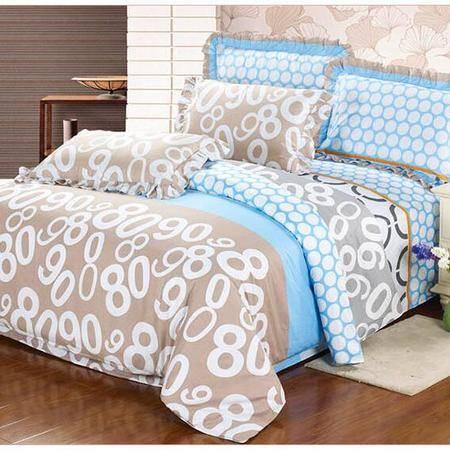 床上用品被枕套纯棉花边枕套四件套 多规格全棉床单 被套大号