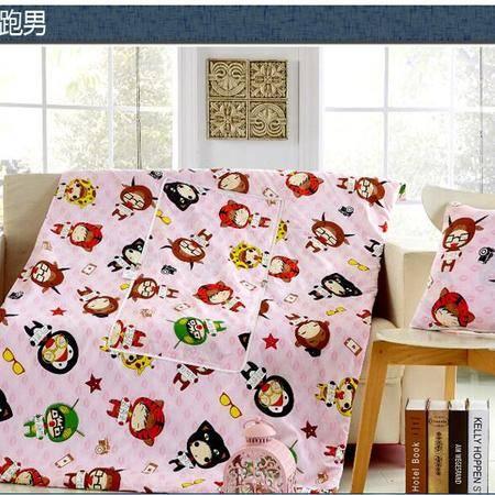 床上用品被枕套新款精舒棉抱枕被 办公室靠垫被午睡被两用多功能