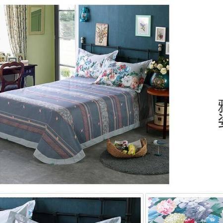 床上用品被枕套13372美式田园全棉四件套活性印花时尚简约碎花清新套件