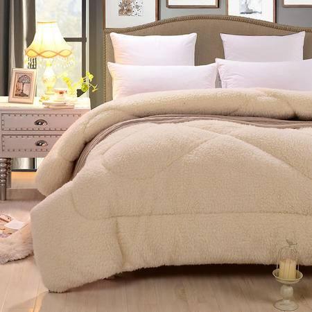 床上用品被枕套高档100%澳洲植绒羊毛被冬被加厚被子单双人保暖被芯床上用品