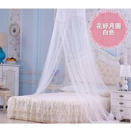 床上用品蚊帐欧式浪漫公主风吊顶蚊帐单开门加密蚊帐包塑钢丝支架圆顶防蚊蚊帐