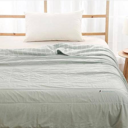 床上用品被枕套夏被水洗色织针织棉全棉夏被可水洗纯棉空调被夏凉被芯