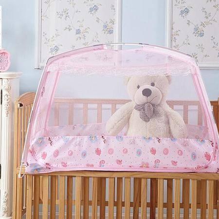 床上用品被枕套 免安装蒙古包蚊帐透气防蚊可折叠蚊帐玻璃纤维支架儿童款防蚊蚊帐