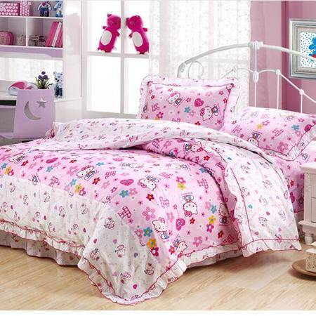 床上用品被枕套  新款全棉斜纹12868四件套韩式床上用品套件亲肤透气床品