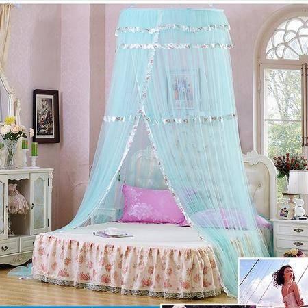 床上用品被枕套奢华吊顶蚊帐包塑钢丝支架单开门蚊帐防蚊透气单双人蚊帐