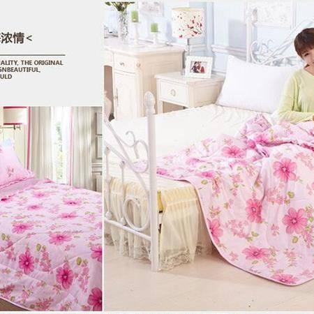 床上用品被枕套全棉时尚韩版夏被薄被子纯棉卡通可爱舒适夏凉被空调被