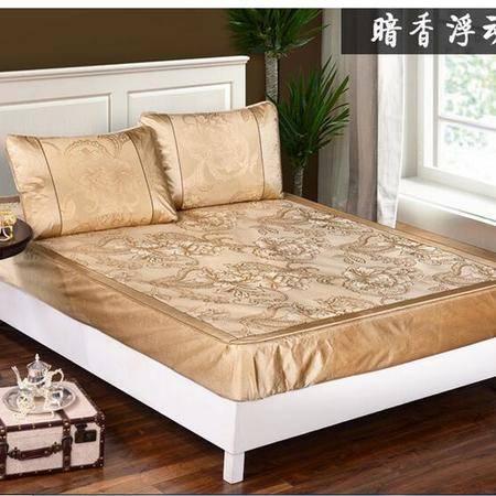 床上用品被枕套冰爽提花冰丝床笠款三件套凉席加厚双人1.5米/1.8m床空调席子