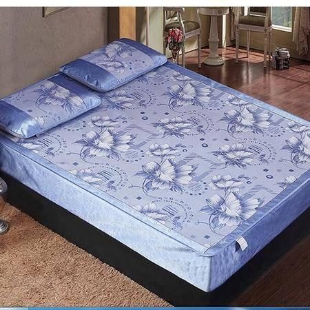 床上用品被枕套新款冰丝床笠式凉席枕席三件套环保亲肤可折叠夏凉席