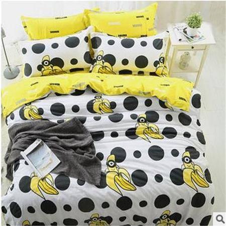 床上用品被枕套 春夏新40支全棉四件套卡通床上用品全棉被套AB版四件套