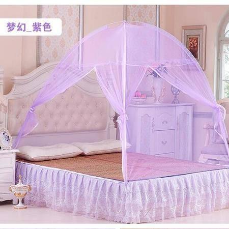 床上用品被枕套  蒙古包式蚊帐全底全封闭式蚊帐双开门玻璃纤维支架蚊帐